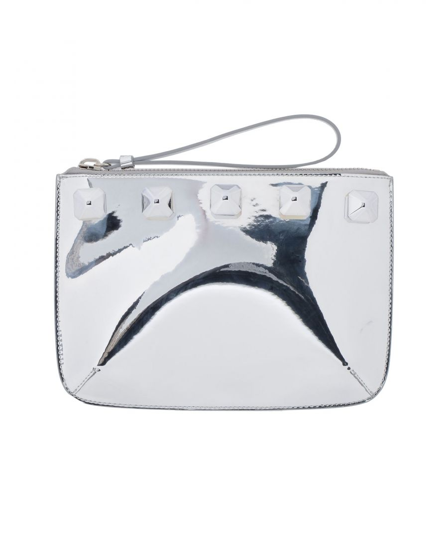 Image for Giuseppe Zanotti Woman Handbags Silver Leather