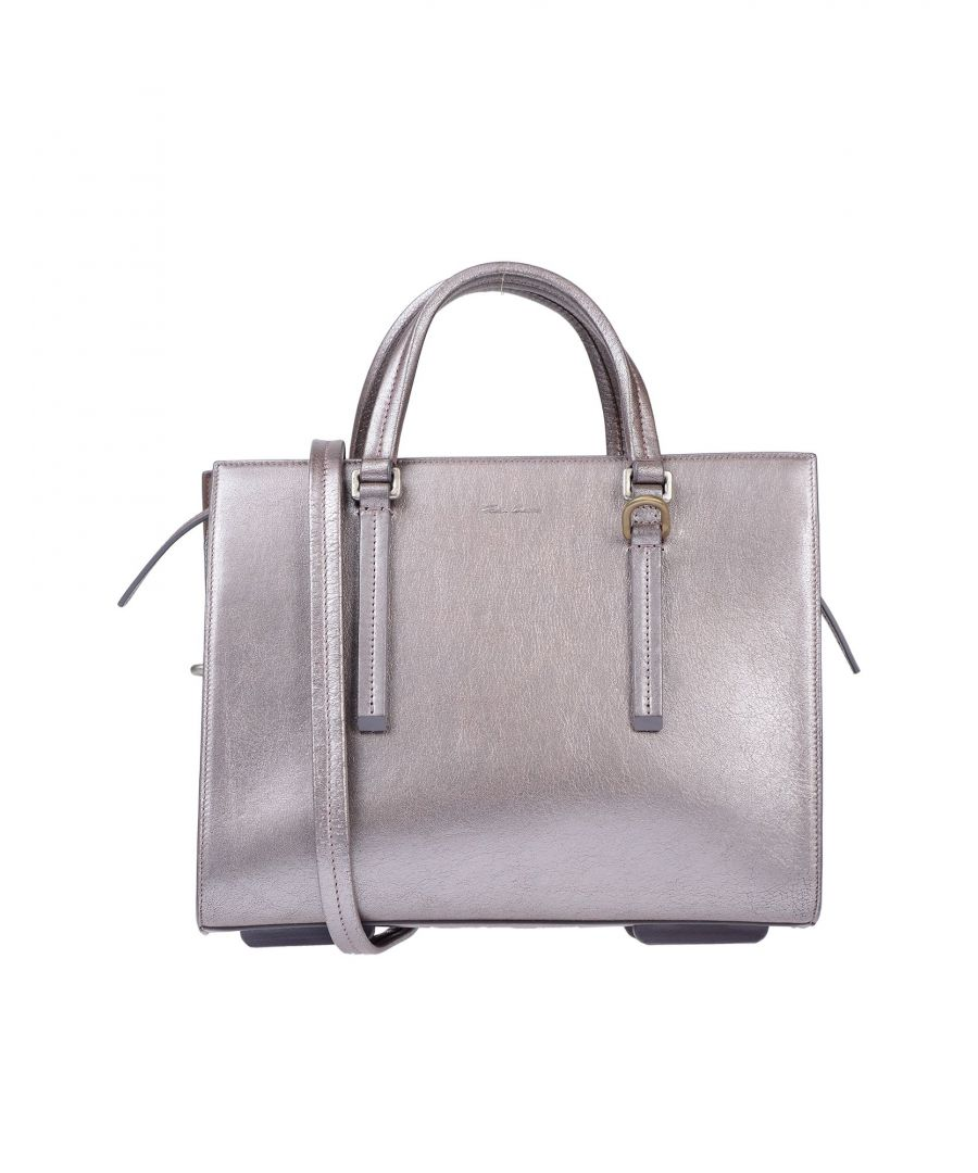 Image for Rick Owens Dove Grey Leather Top Handle Satchel Bag