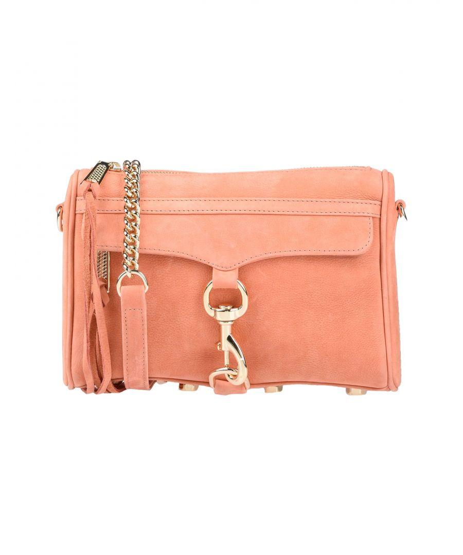Image for Rebecca Minkoff Apricot Leather Satchel Bag