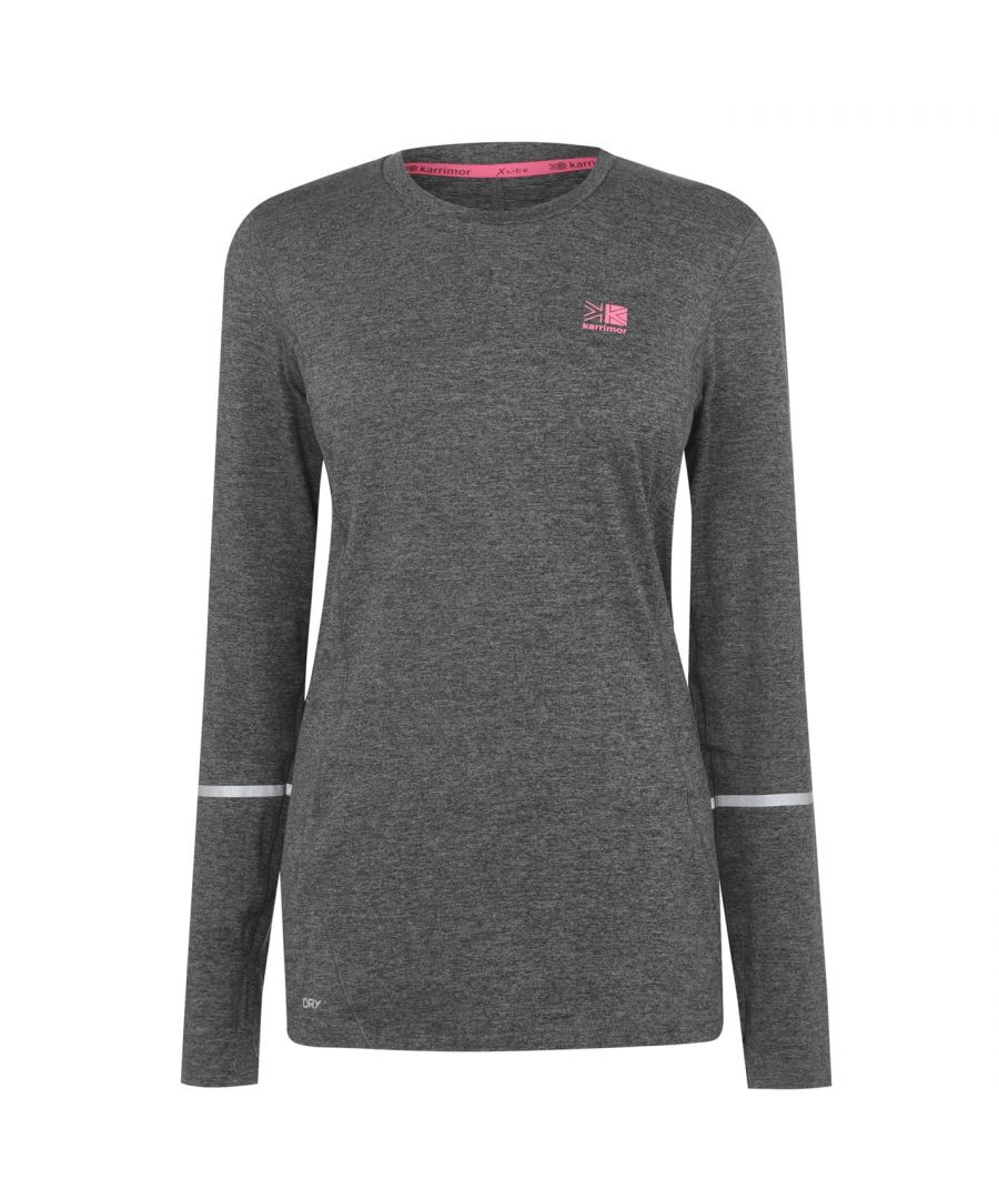 Image for Karrimor Womens XLite MI T Shirt Long Sleeve Performance Top Crew Neck Tee