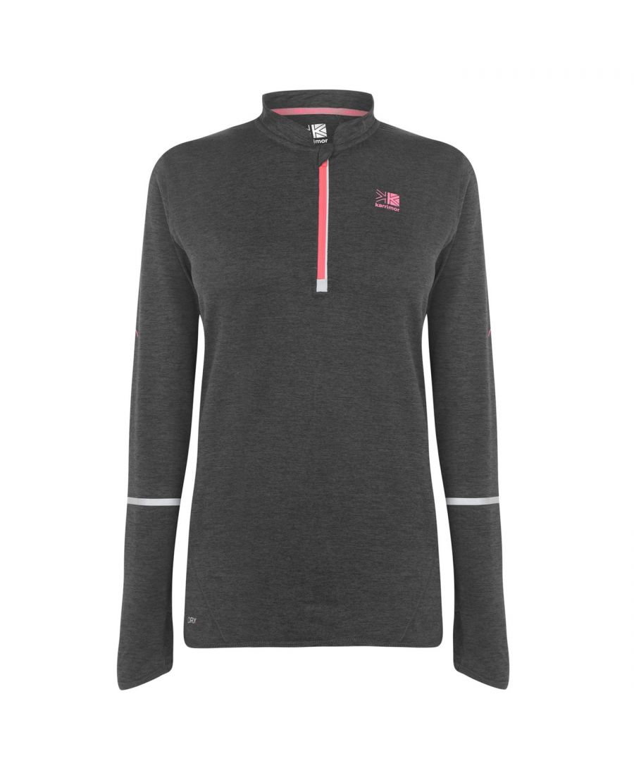 Image for Karrimor Womens XLite MI Zip Top Ladies Crew Neck T-Shirt Tee Performance