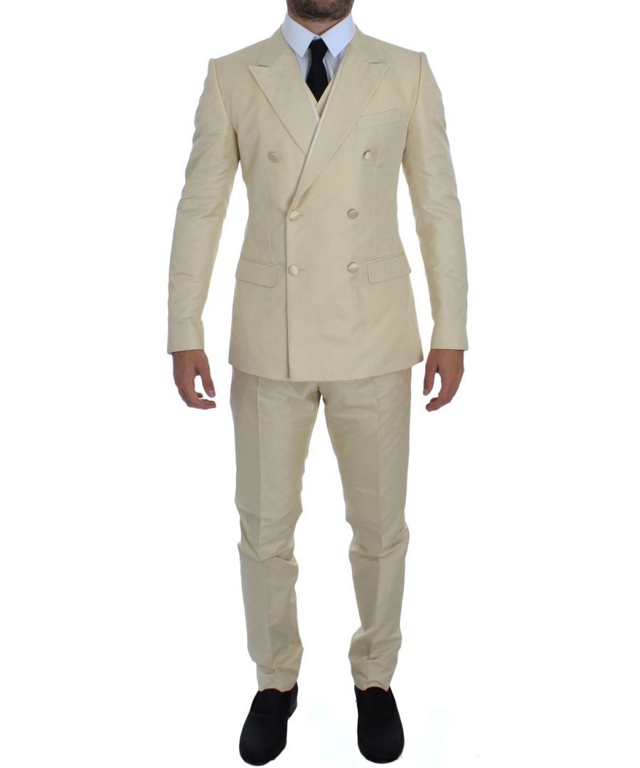 Image for Dolce & Gabbana White Double Breasted 3 Piece Suit