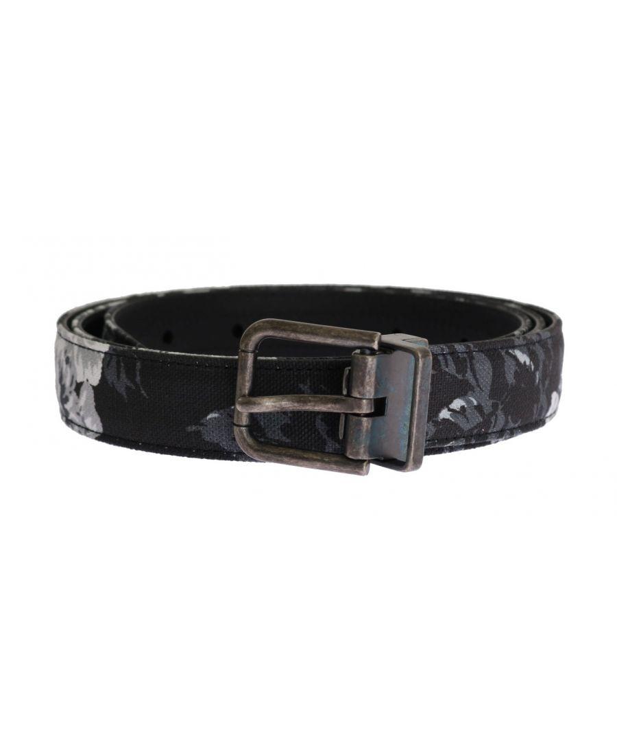 Image for Dolce & Gabbana Black Cayman Linen Leather Belt
