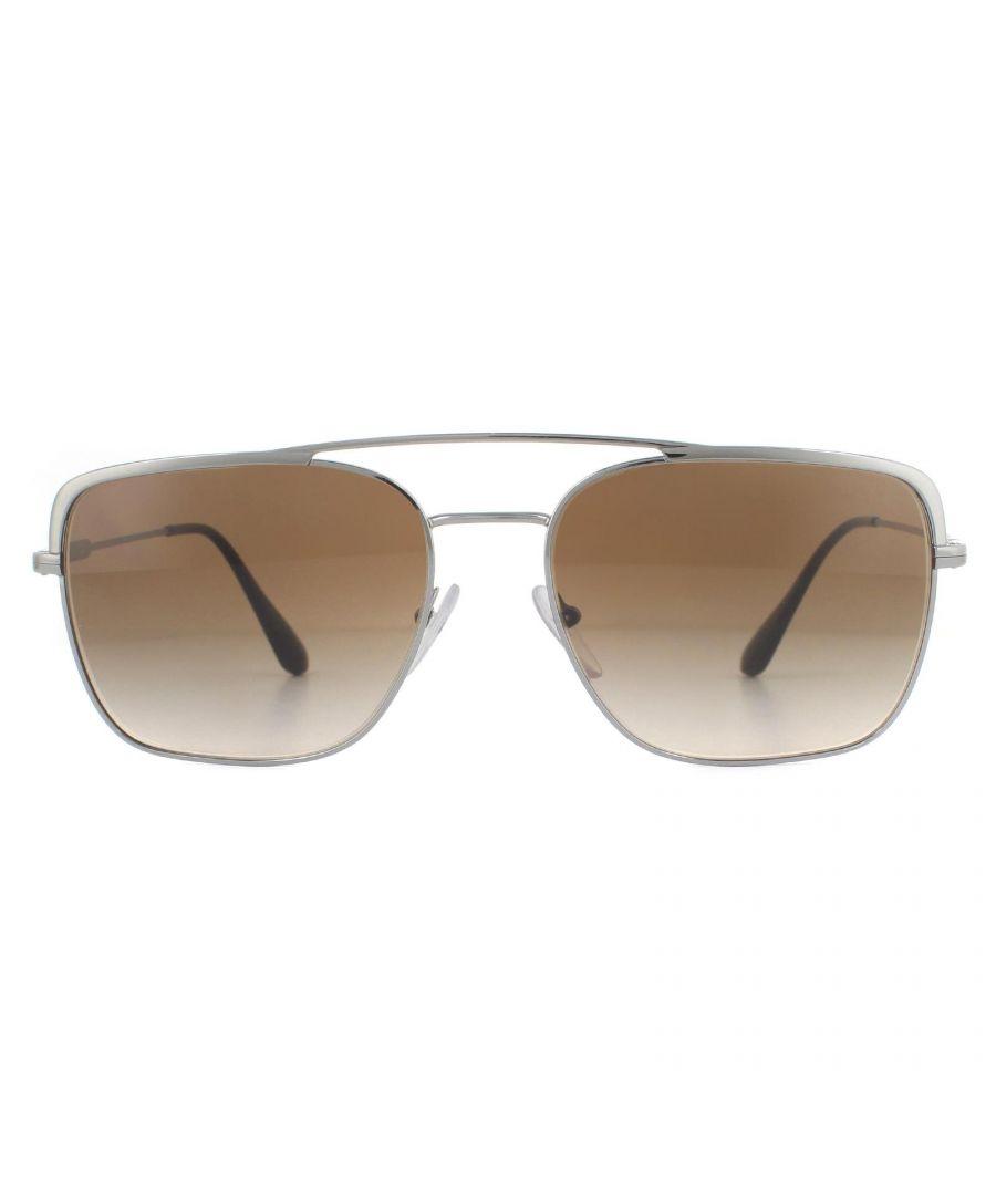 Image for Prada Sunglasses Pr53Vs 5Av6S1 Gunmetal Brown Gradient