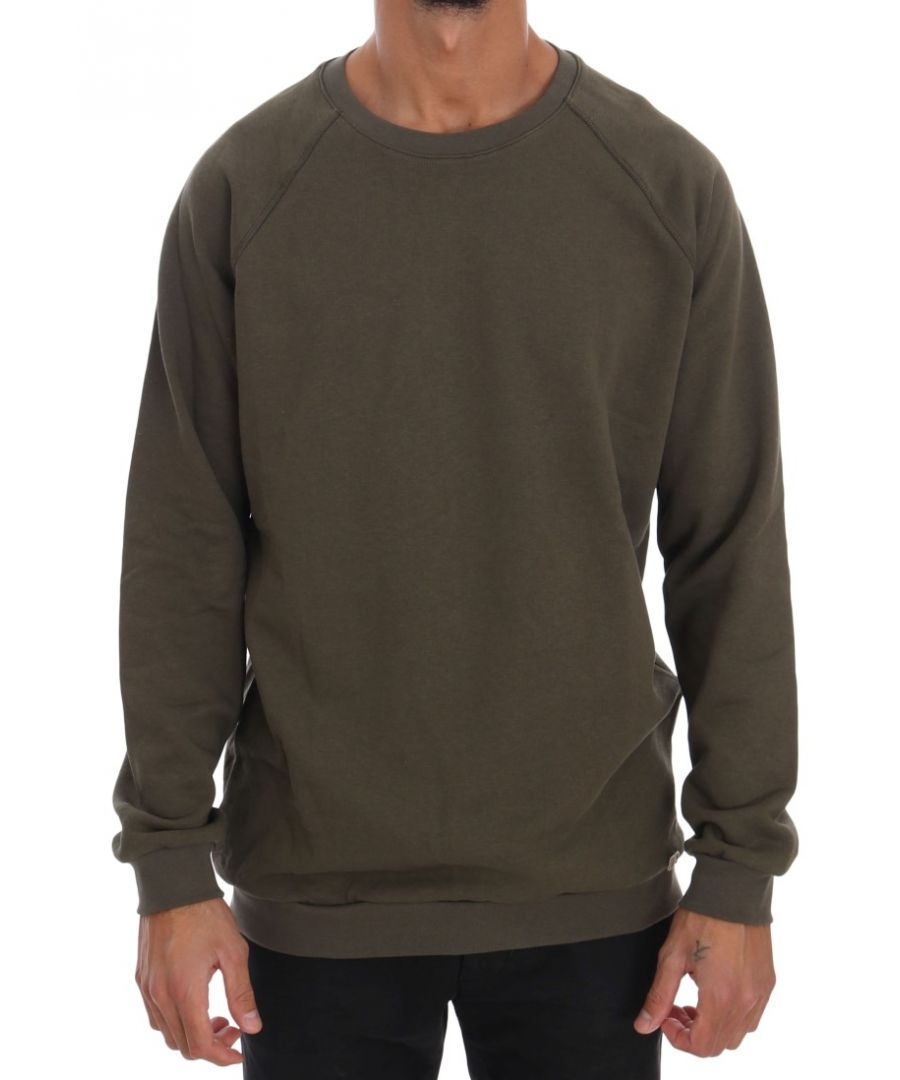 Image for Daniele Alessandrini Green Crewneck Cotton Sweater
