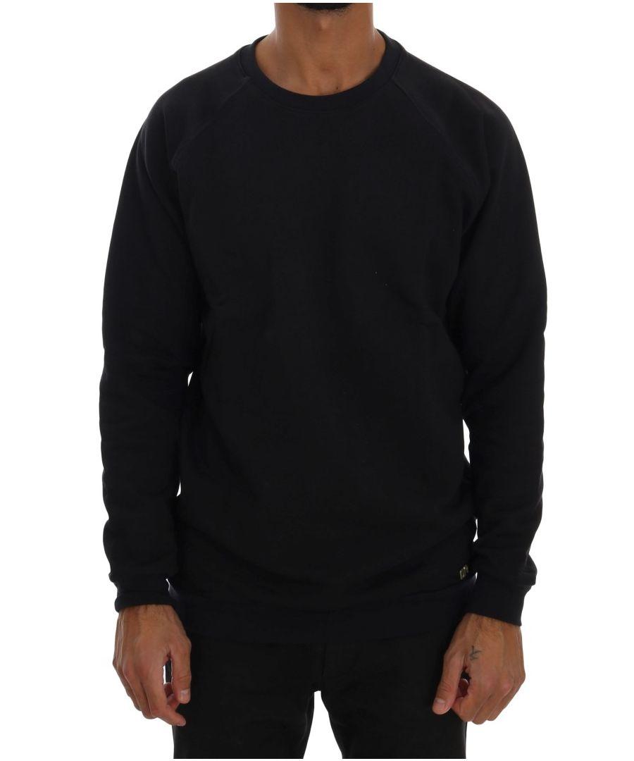 Image for Daniele Alessandrini Blue Crewneck Cotton Sweater
