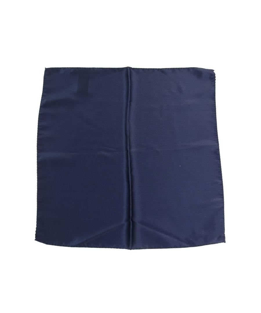 Image for Dolce & Gabbana Blue Square Silk Handkerchief