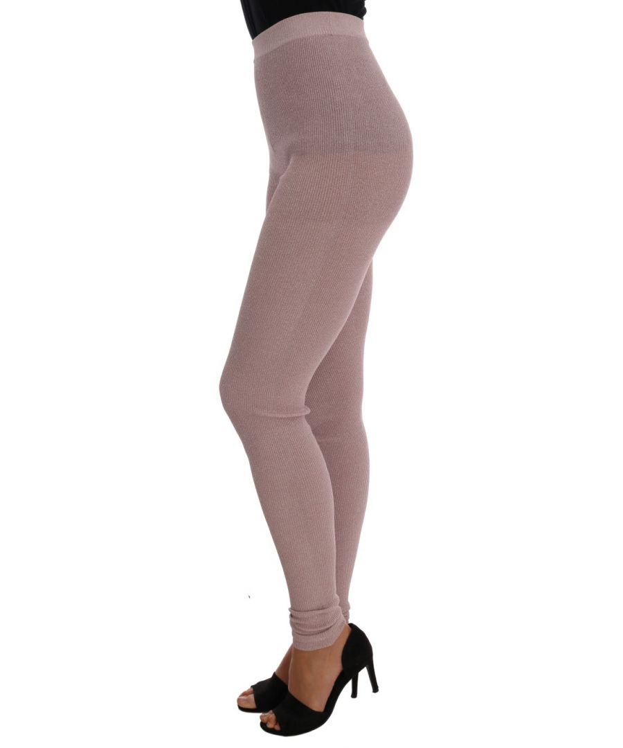 Image for Dolce & Gabbana Pink Stretch Waist Tights Stockings