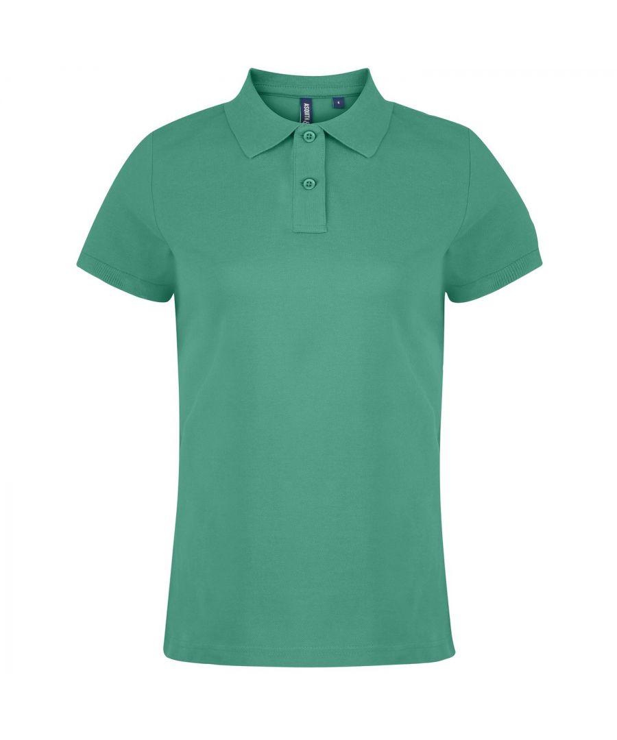Image for Asquith & Fox Womens/Ladies Plain Short Sleeve Polo Shirt (Kelly)