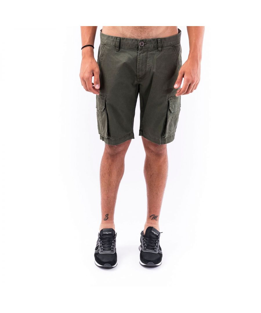 Image for SUN 68 MEN'S B3010474 GREEN COTTON SHORTS