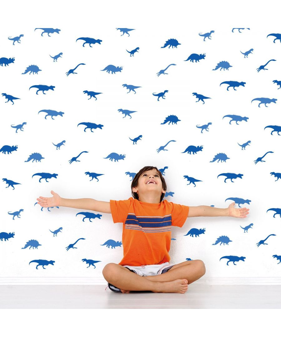 Image for Wall Art - Blue Dinosaurs