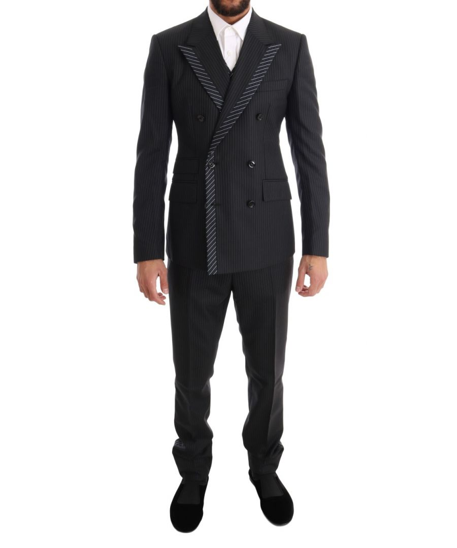Image for Dolce & Gabbana Gray Double Breasted 3 Piece Suit