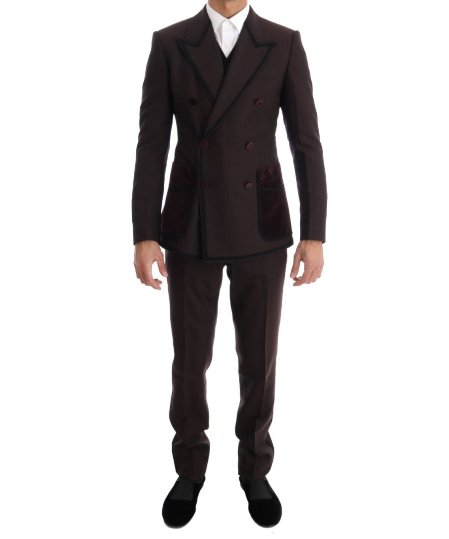 Image for Dolce & Gabbana Bordeaux Torero 3 Piece SICILIA Suit