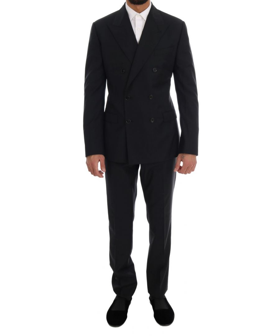Image for Dolce & Gabbana Blue Wool Double Breasted SICILIA Suit