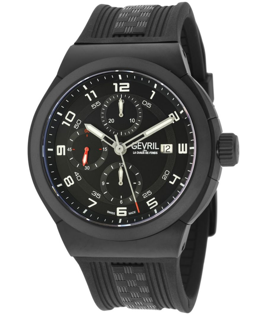 Image for Gevril Mens Canal  St Automatic Chronograph Watch