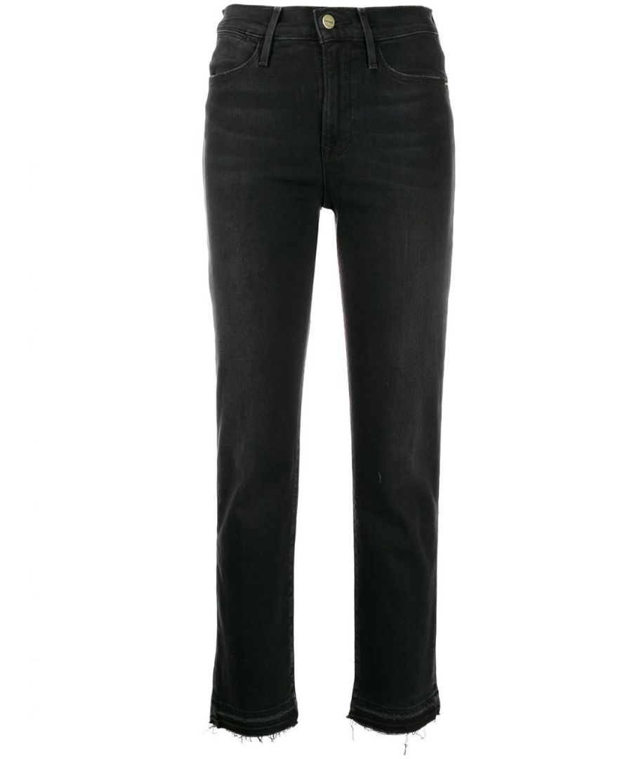 Image for FRAME WOMEN'S LHSTRH710CNDR BLACK COTTON JEANS