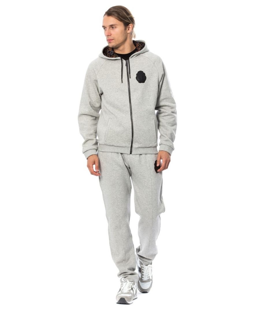 Image for Billionaire Italian Couture Gray Cotton Hooded Sweatsuit