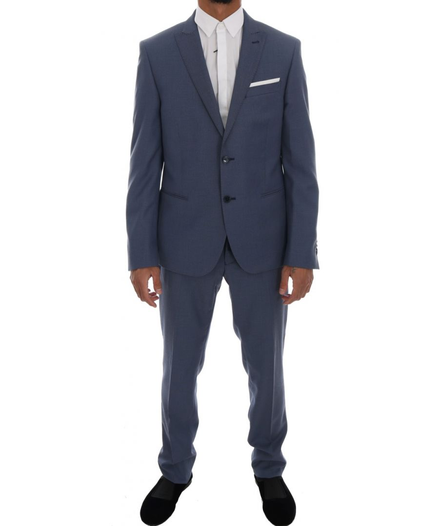 Image for Daniele Alessandrini Blue Two Button Slim Fit Suit