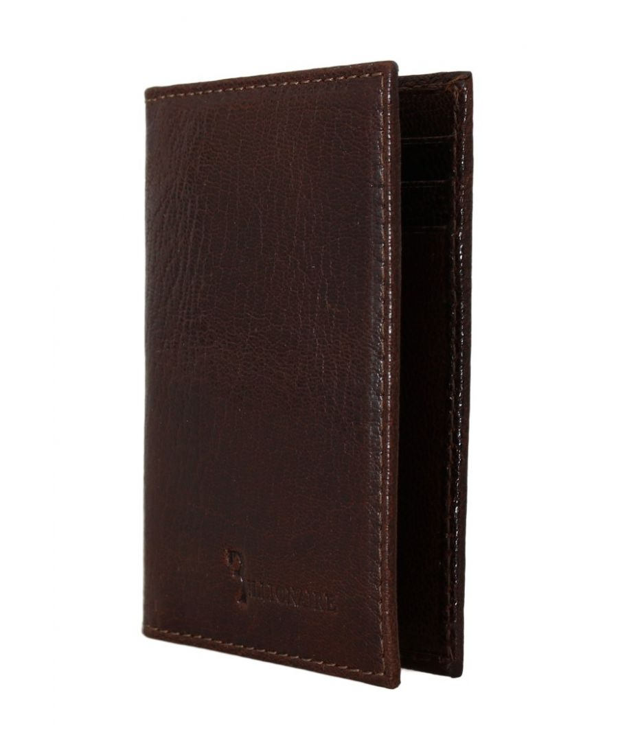 Image for Billionaire Italian Couture Brown Leather Bifold Wallet