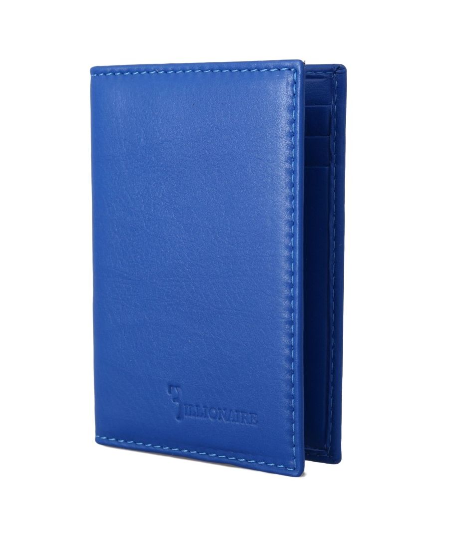 Image for Billionaire Italian Couture Blue Leather Bifold Wallet