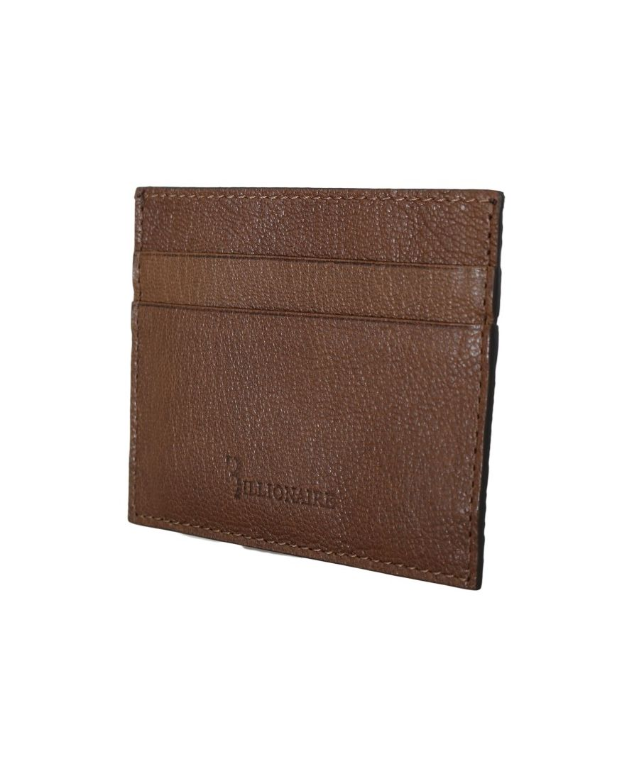 Image for Billionaire Italian Couture Brown Leather Cardholder Wallet
