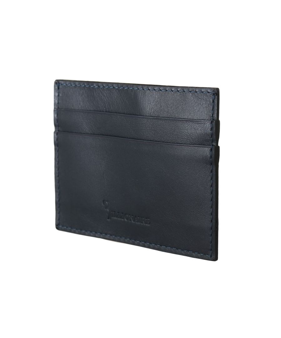 Image for Billionaire Italian Couture Blue Leather Cardholder Wallet