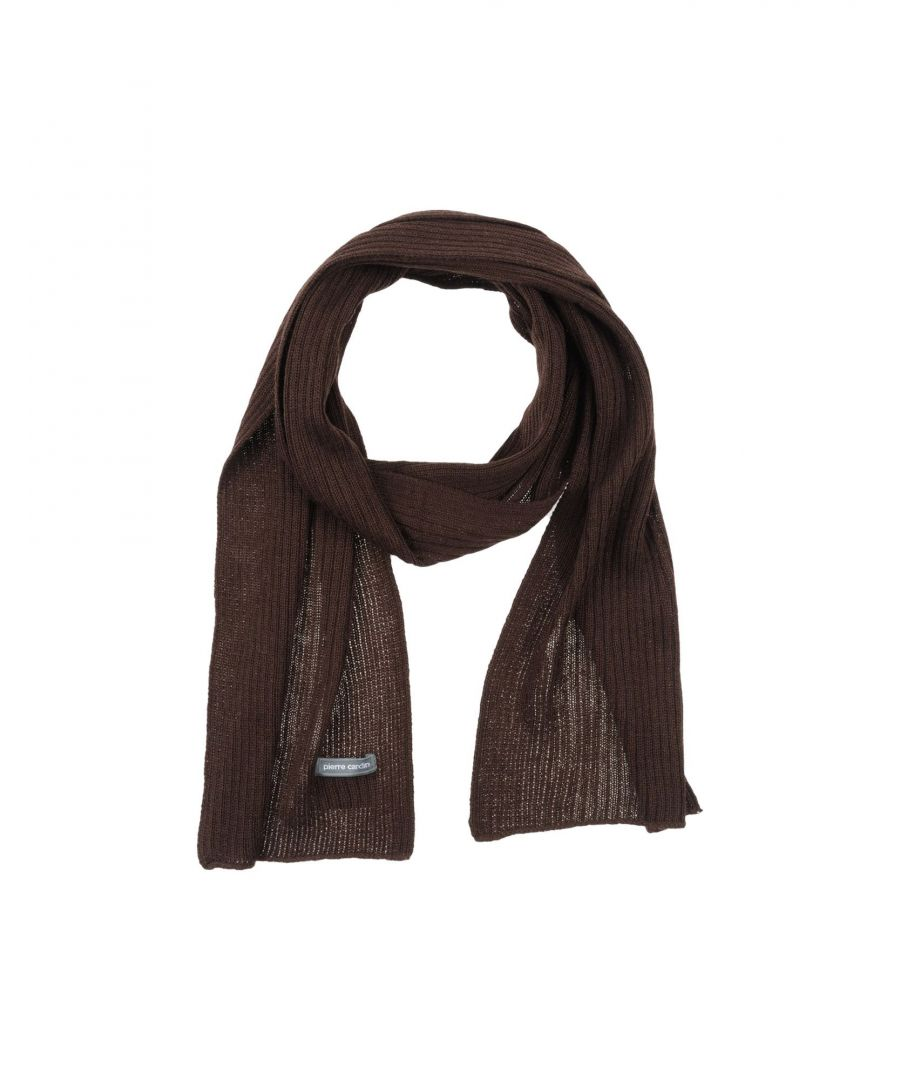 Image for Pierre Cardin Dark Brown Knit Scarf