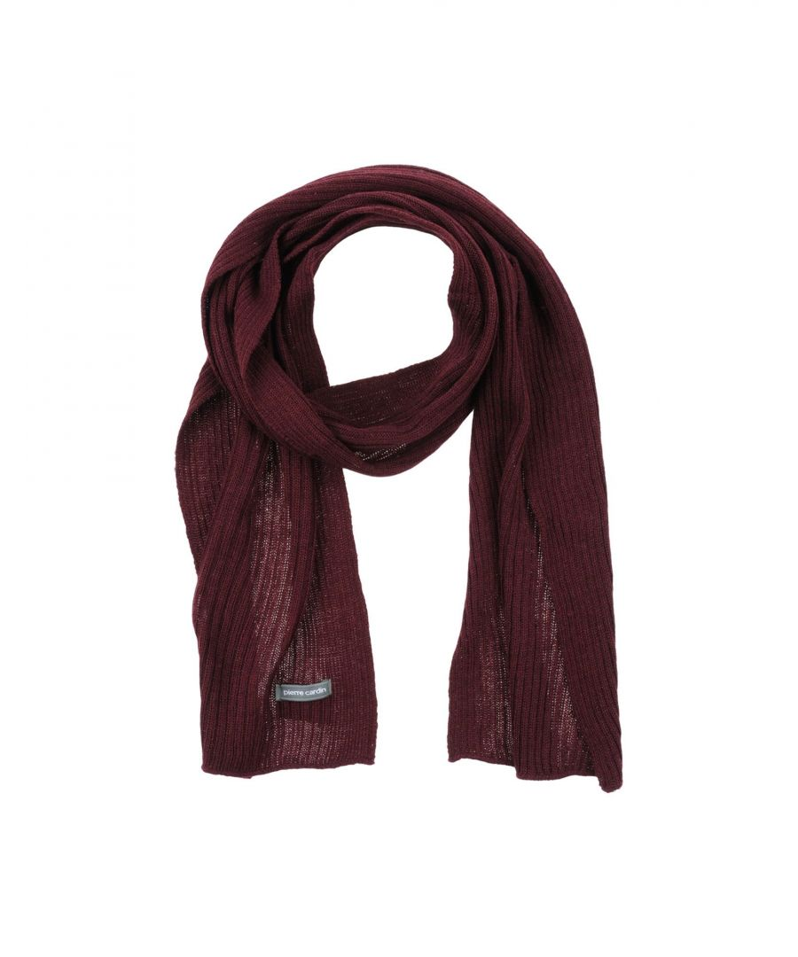 Image for Pierre Cardin Maroon Knit Scarf