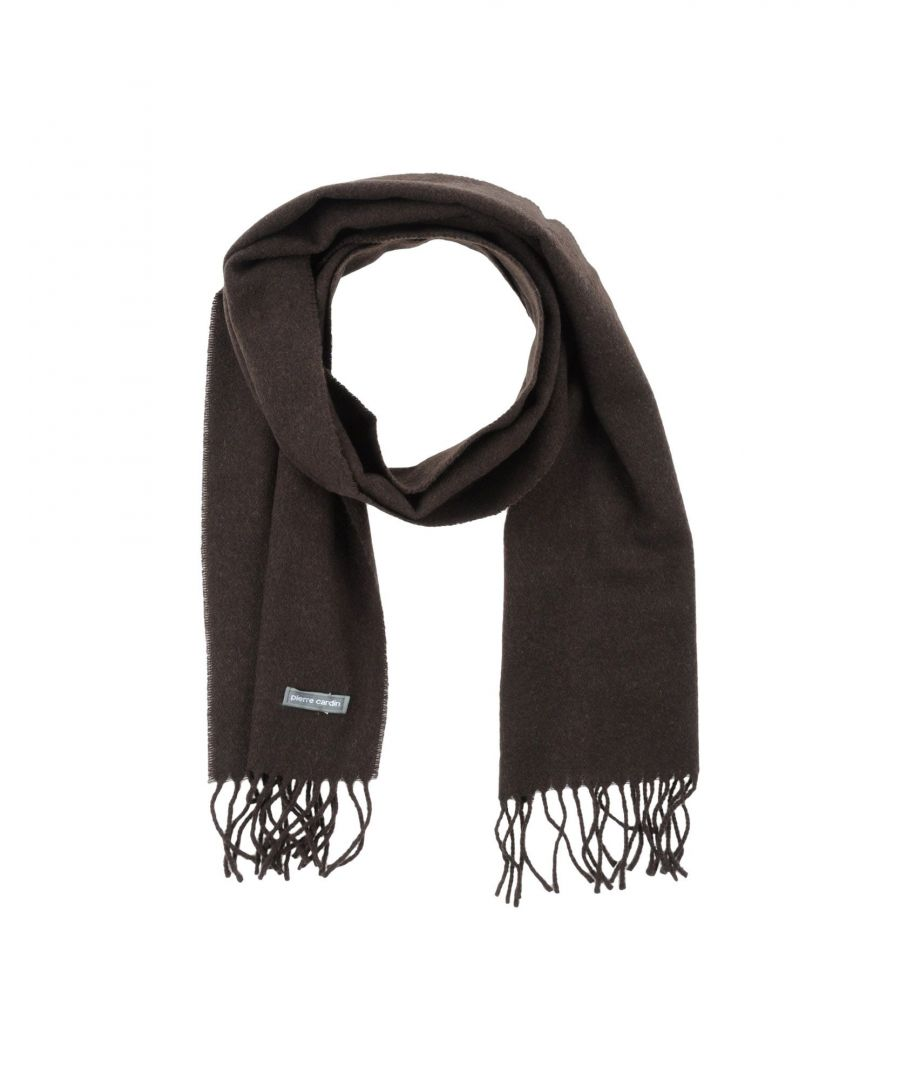 Image for Pierre Cardin Dark Brown Fringed Scarf