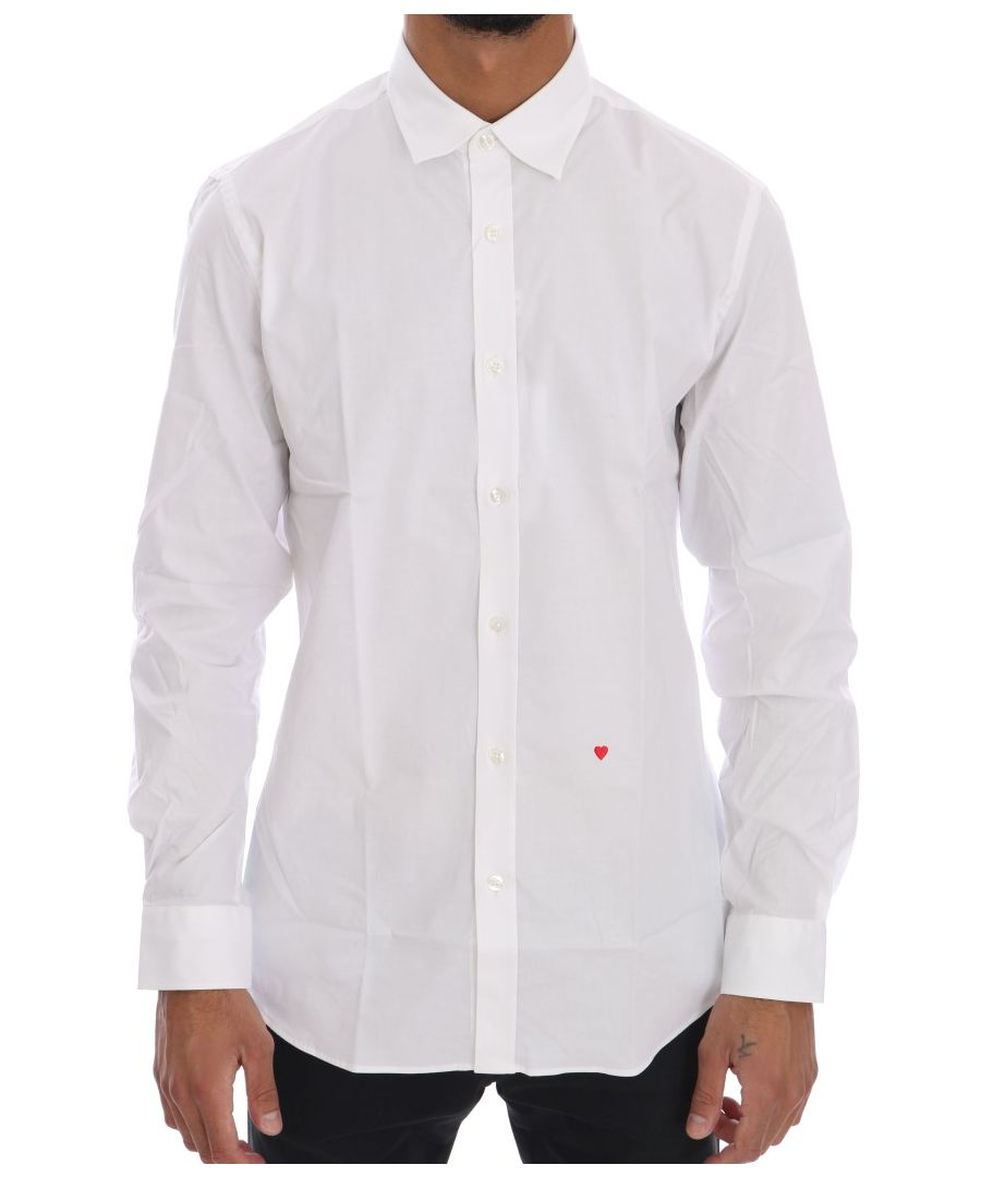 Image for Moschino White Cotton Stretch Slim Fit Dress Shirt