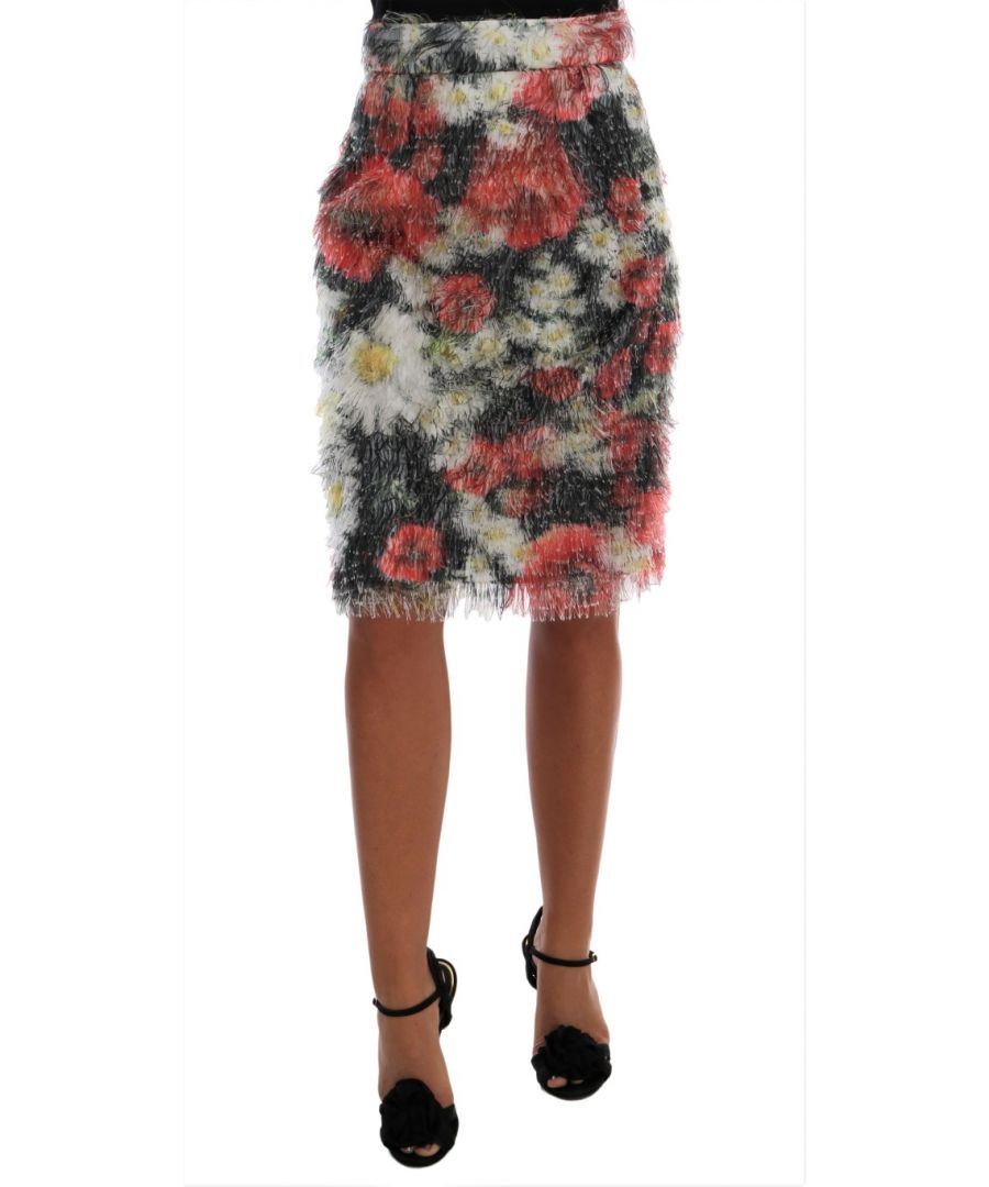 Image for Dolce & Gabbana Floral Patterned Pencil Straight Skirt