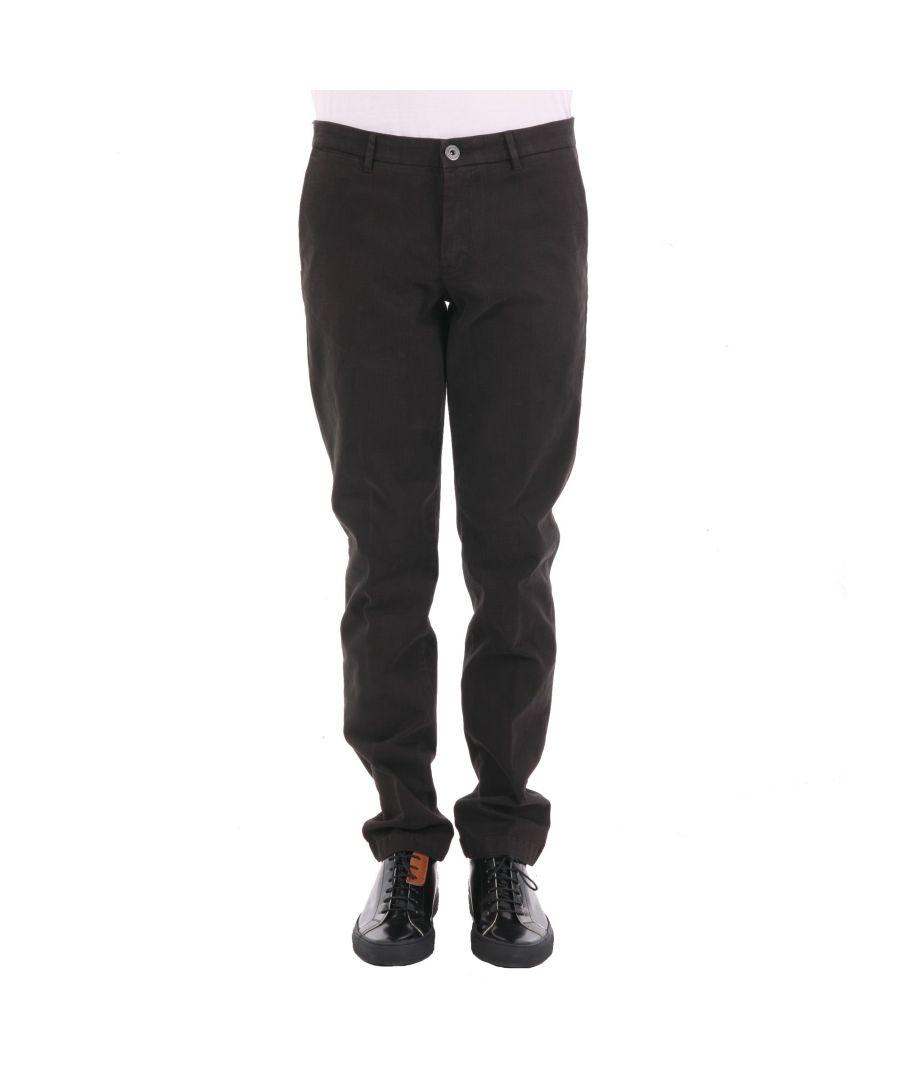 Image for TRUSSARDI MEN'S 52P01H69 BROWN COTTON PANTS