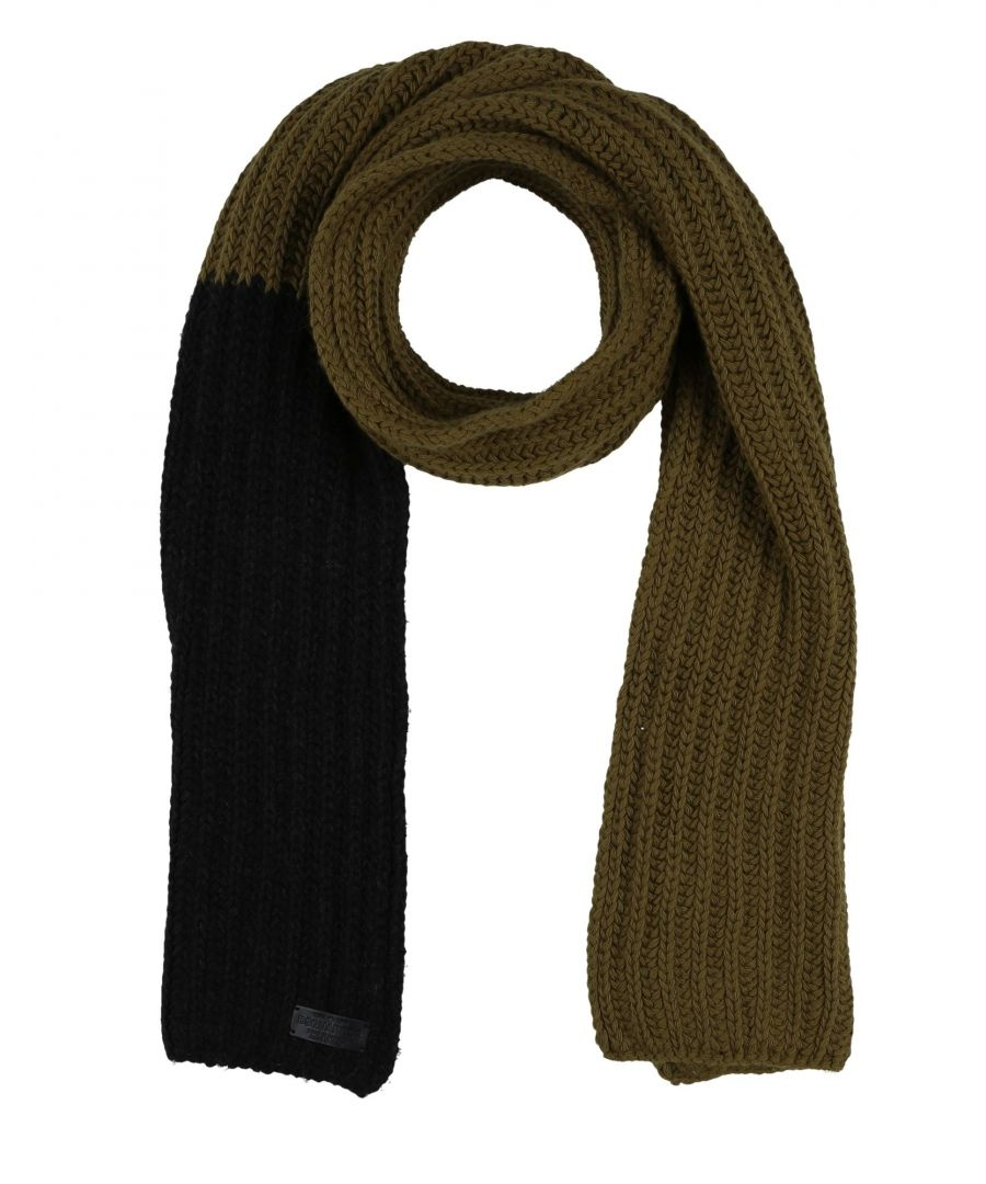 Image for Dsquared2 Military Green Wool Knit Scarf