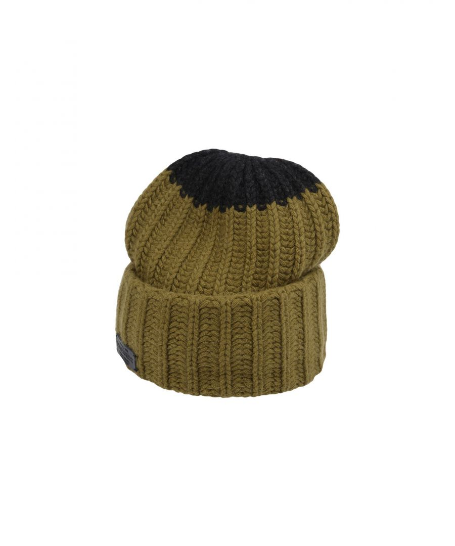 Image for Dsquared2 Military Green Wool Knit Beanie Hat