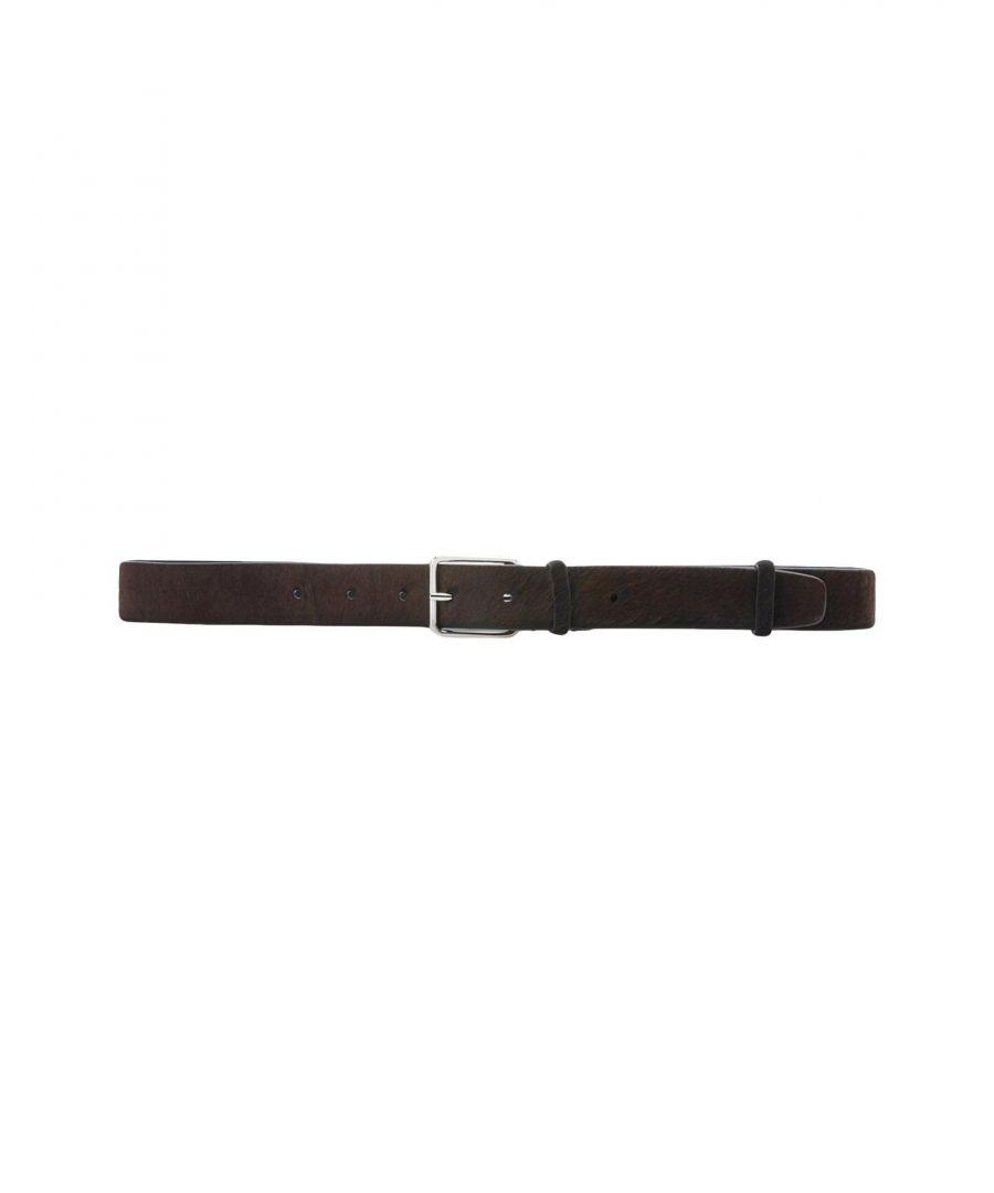 Image for Jil Sander Dark Brown Calf Leather Belt