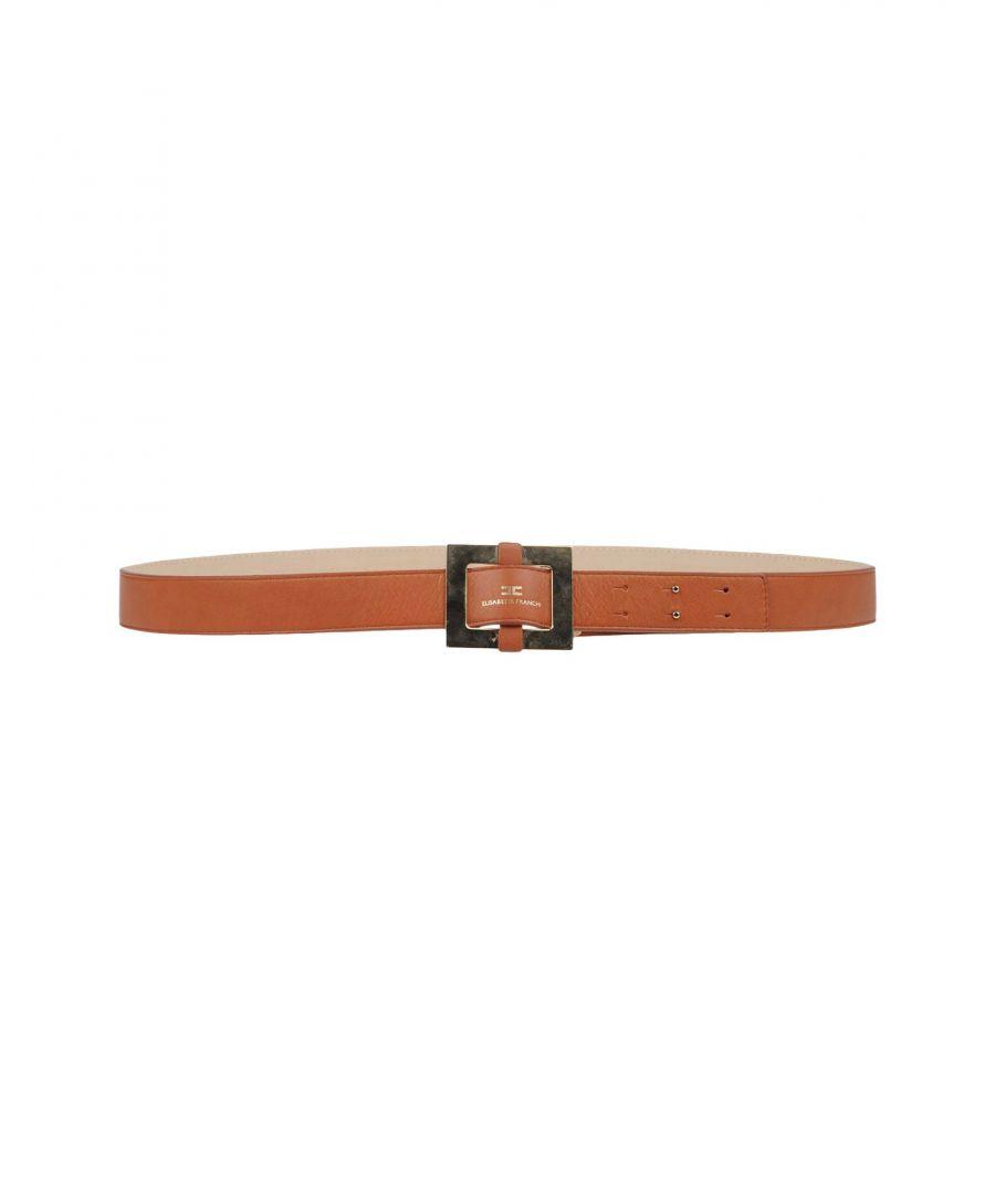 Image for Elisabetta Franchi Brown Leather Belt