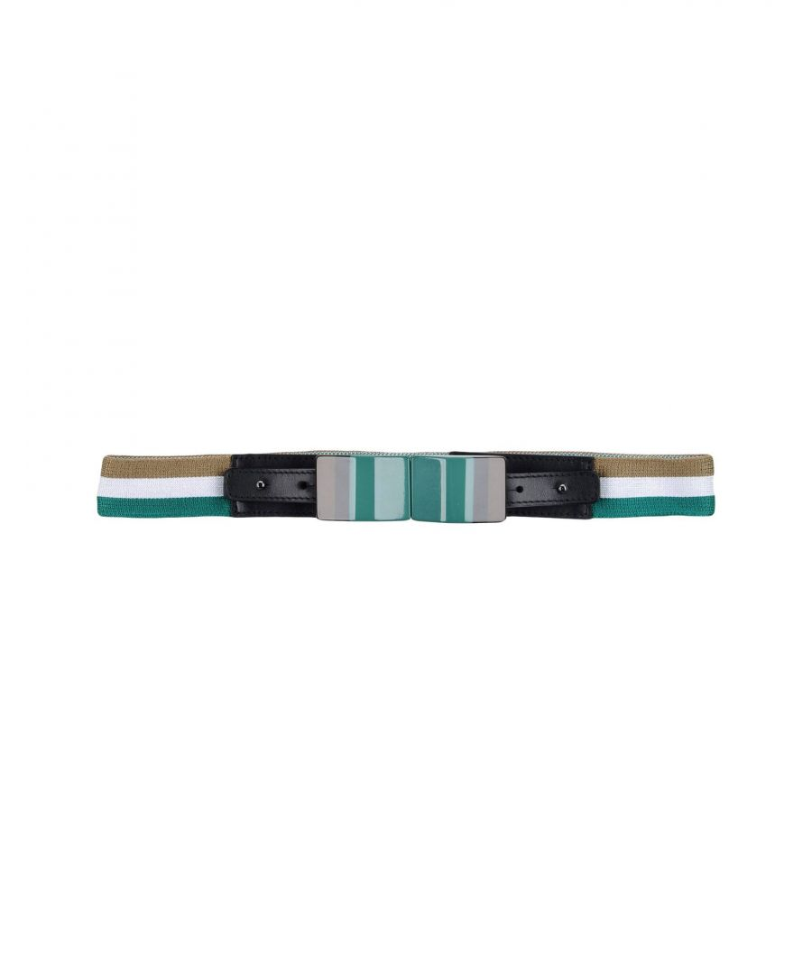 Image for Missoni Green Leather And Techno Fabric Belt