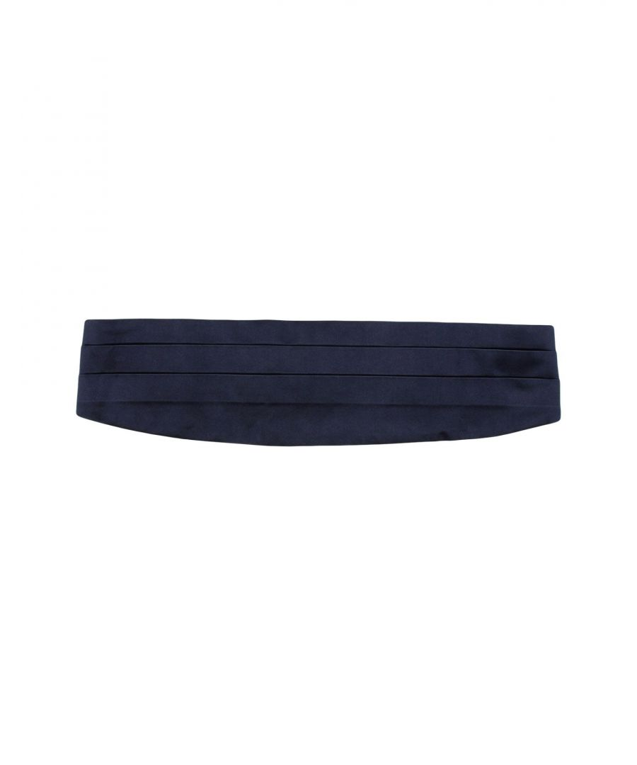 Image for Armani Collezioni Dark Blue Silk Belt