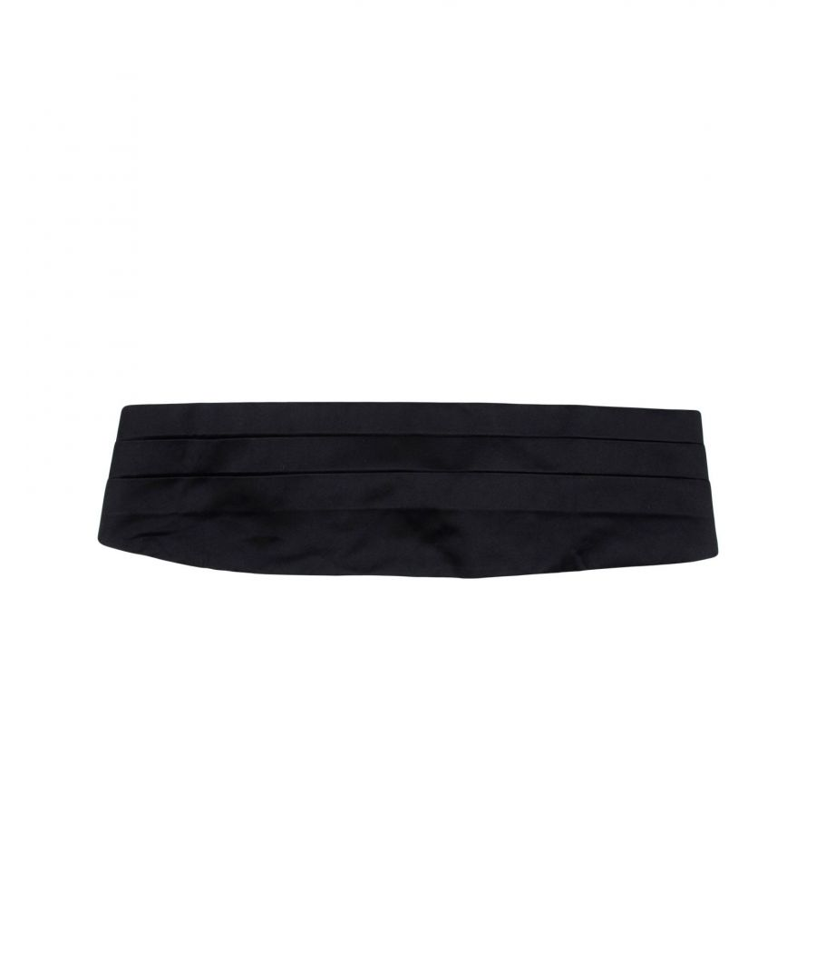 Image for Emporio Armani Black Silk Belt