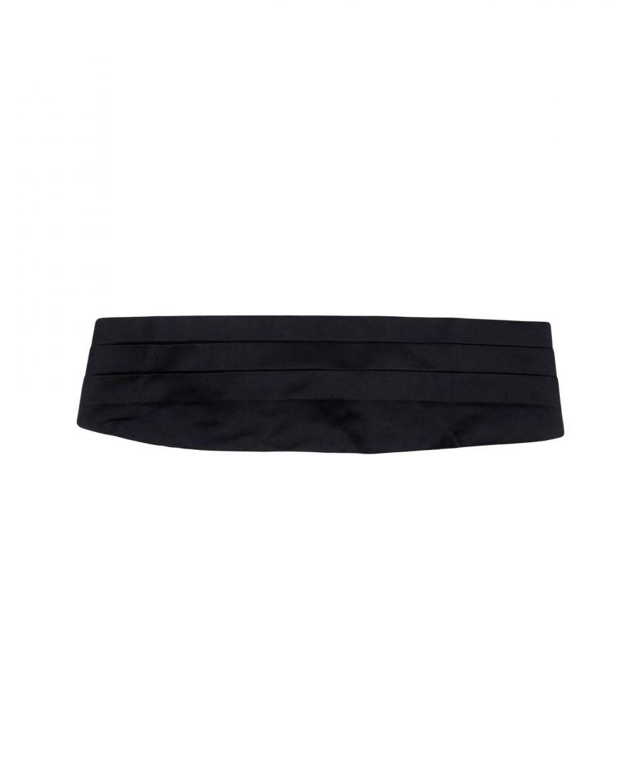 Image for Emporio Armani Black Silk Belt