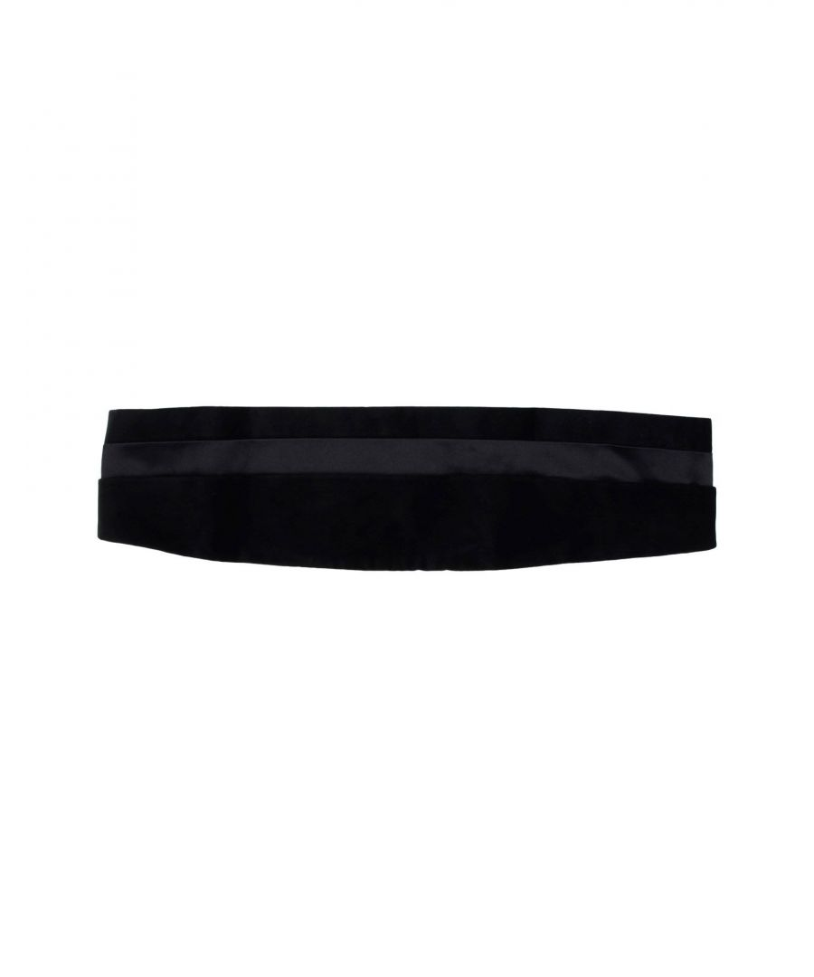 Image for Armani Collezioni Black Cotton Belt