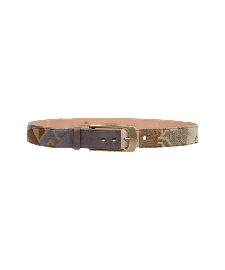Image for Etro Khaki Jacquard Leather Belt