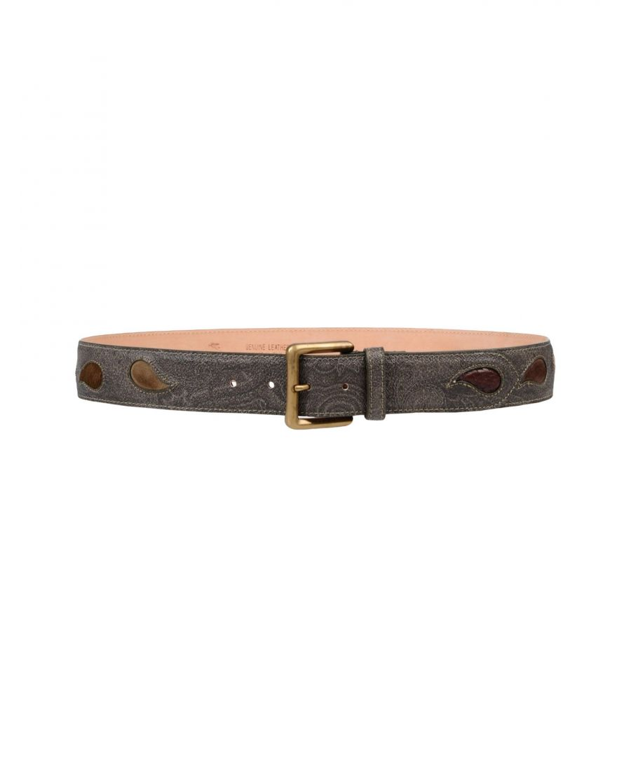 Image for Etro Military Green Leather Belt