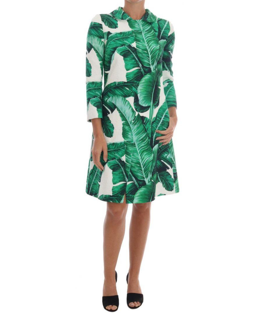 Image for Dolce & Gabbana Banana Leaf Cotton Silk Trench Coat