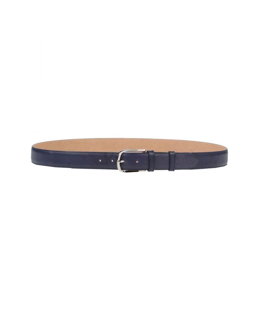 Image for Pal Zileri Dark Blue Calf Leather Belt