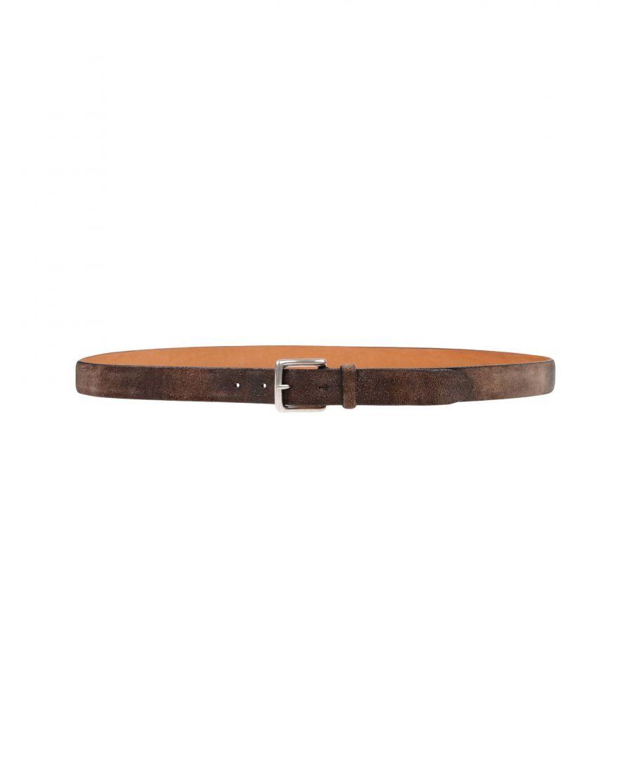 Image for Doucal's Khaki Leather Belt