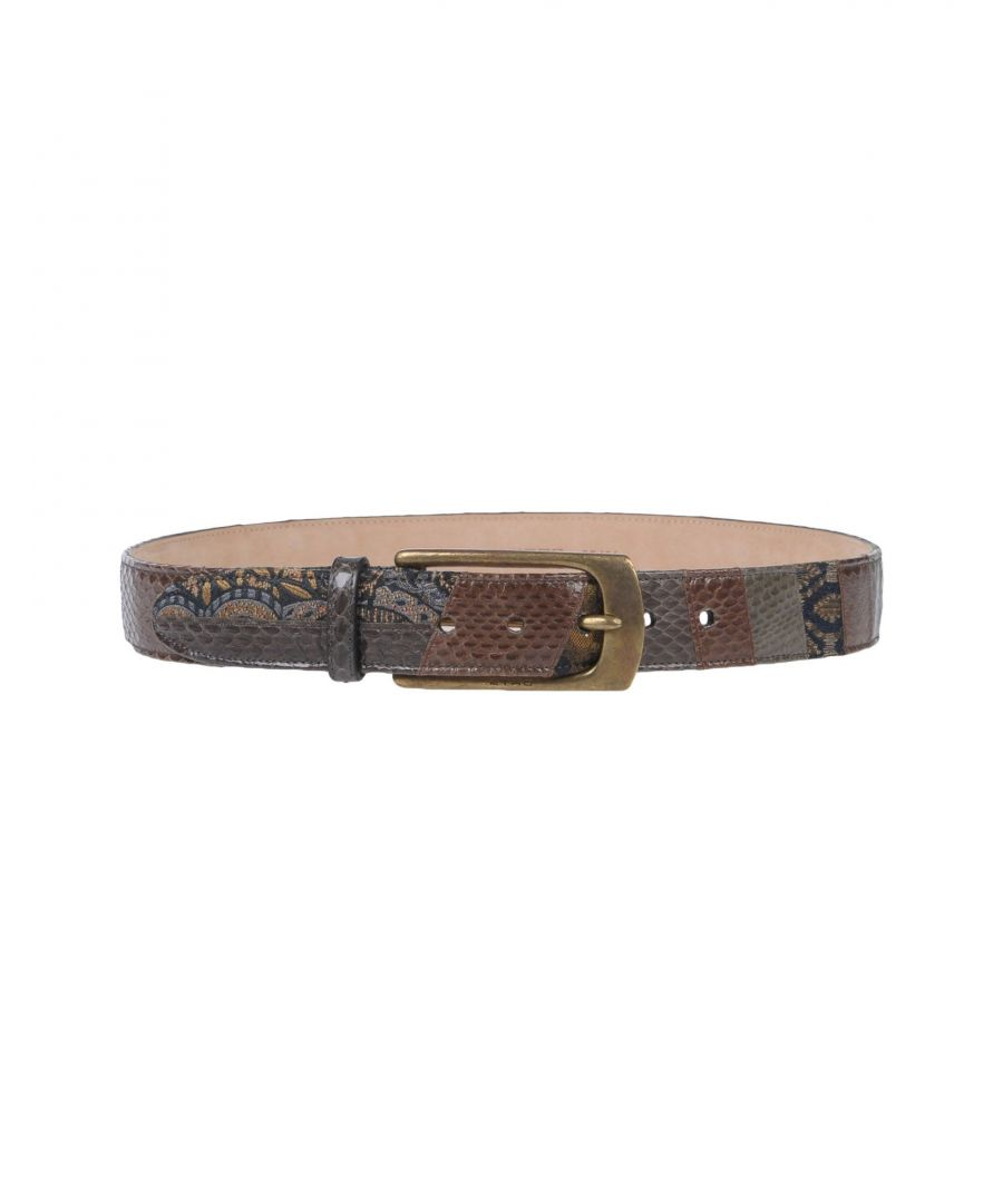 Image for Etro Cocoa Leather Belt