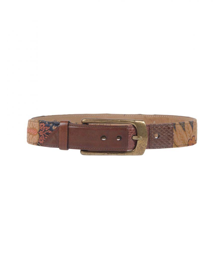 Image for Etro Khaki Leather Belt