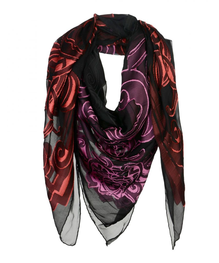 Image for Versace Fuchsia Print Silk Scarf