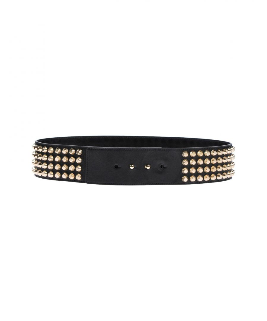 Image for Versace Black Leather Studded Belt